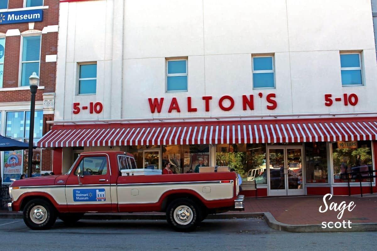 Sam Walton Truck in front of Walmart Museum in Bentonville AR