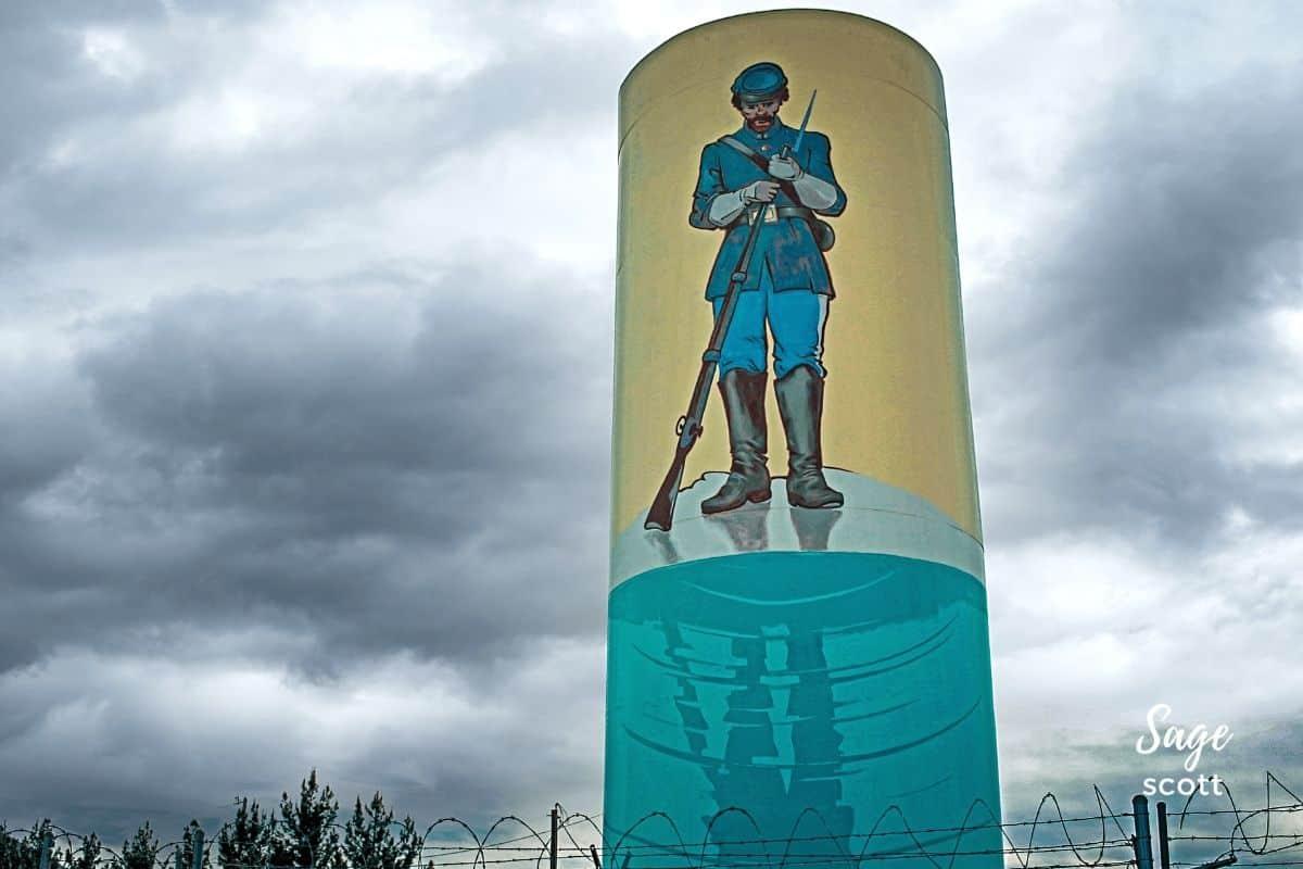 Buffalo Soldier Water Tank Mural