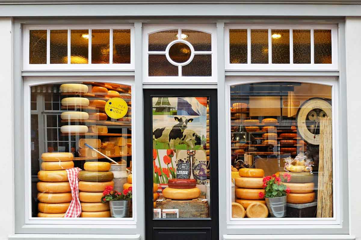 Cheese is a common Dutch food