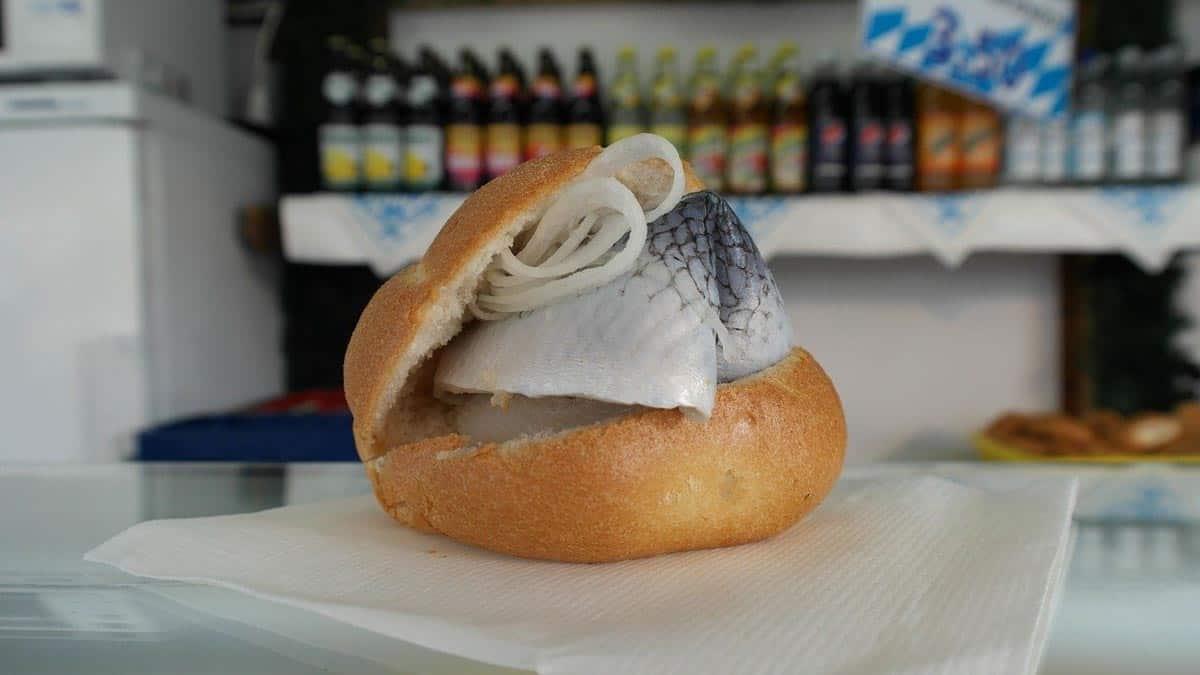 One classic Dutch food is herring