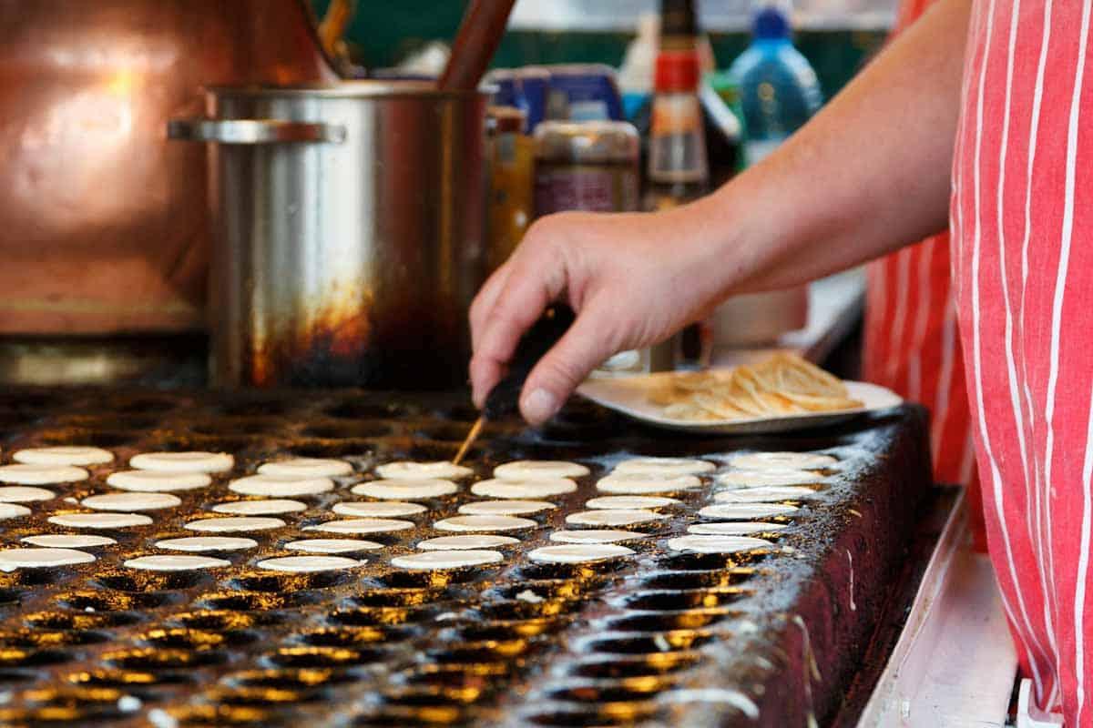 Poffertjes are famous Dutch desserts