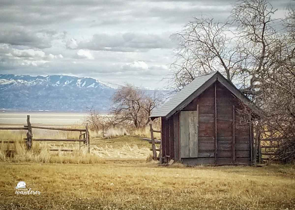An outbuilding at the Fielding Garr Ranch on Antelope Island