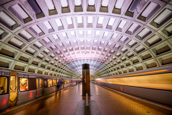 The Metro is a convenient way to travel to the Smithsonian Museums in DC.