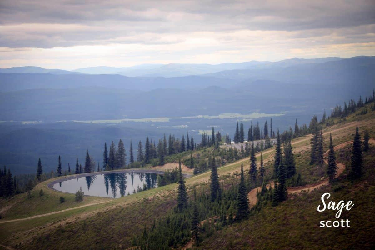 View of lake from Whitefish Mountain gondola