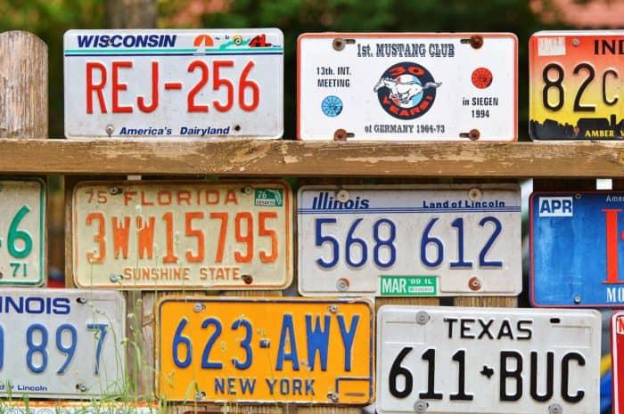 Spot the Plate, Color the State - License Plate Bingo