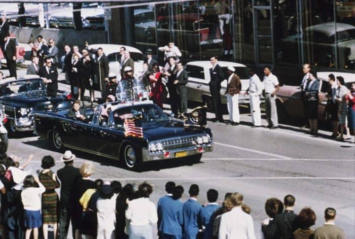 JFK's motorcade in Dallas Texas