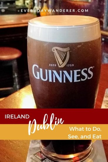 Dublin Ireland is full of things to do, see, eat, and drink #dublin #ireland #europe #travel