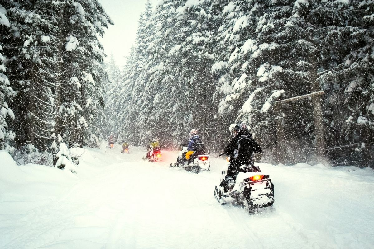 Snowmobiling is a fun thing to do in winter in Jackson Hole Wyoming