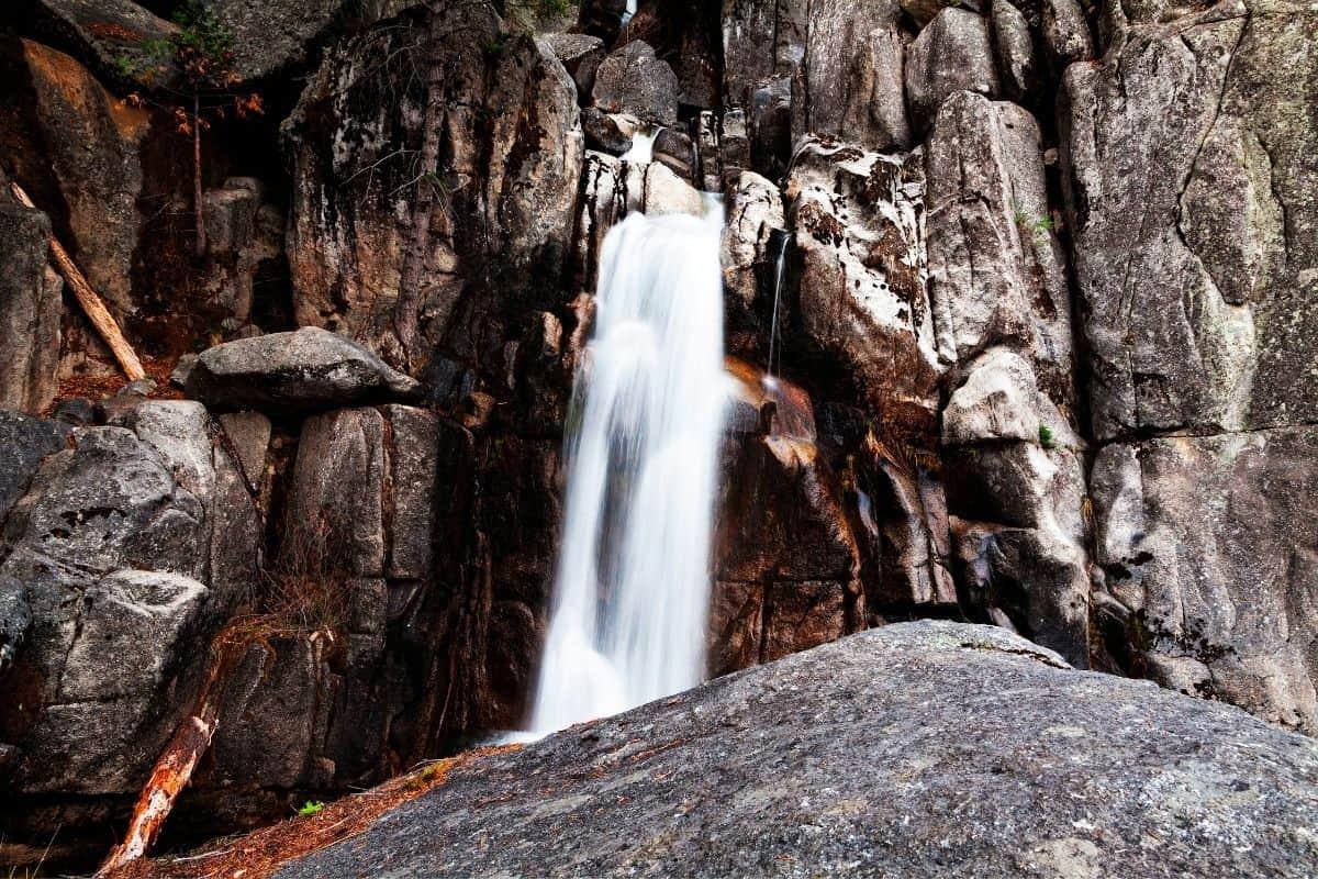 The lowest portion of Chilnualna Falls at Yosemite National Park