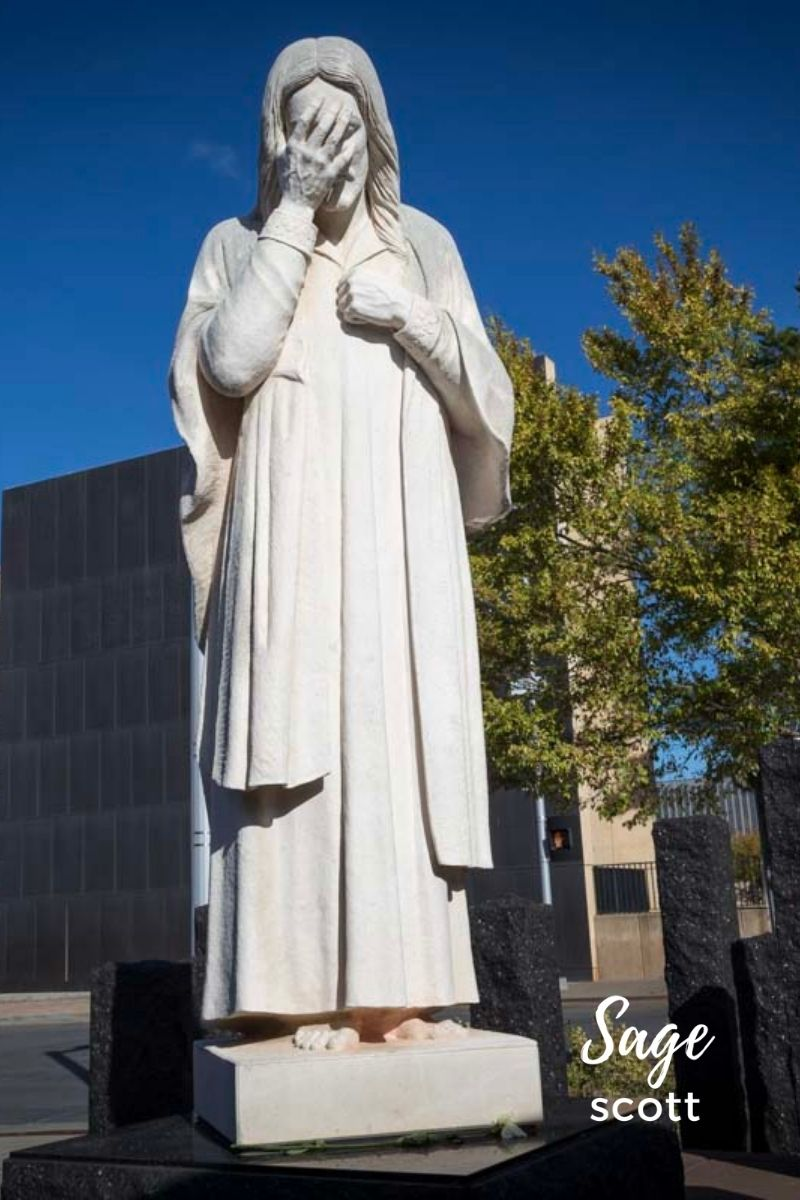 And Jesus Wept Statue in Oklahoma City