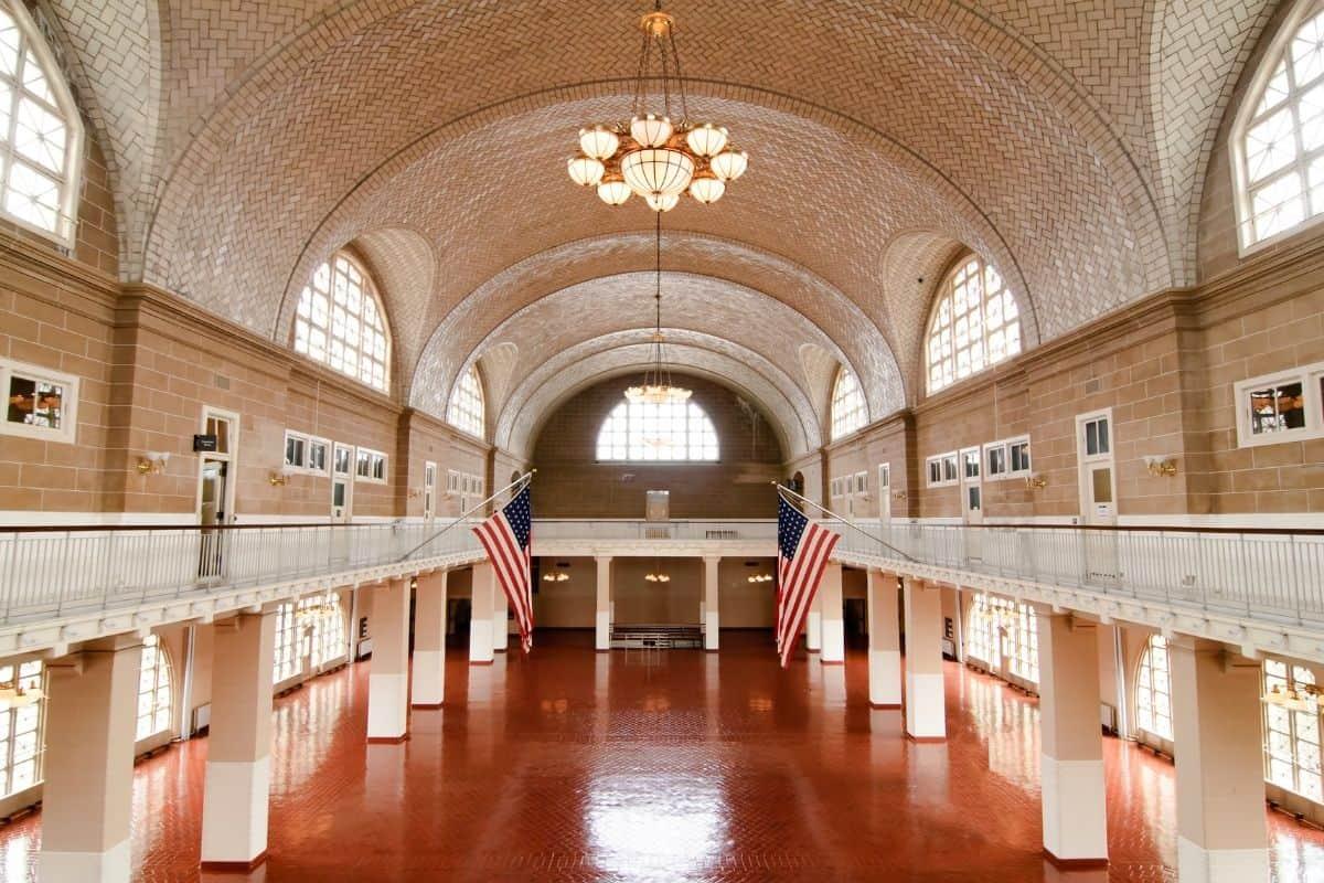 Arrivals Hall at Ellis Island