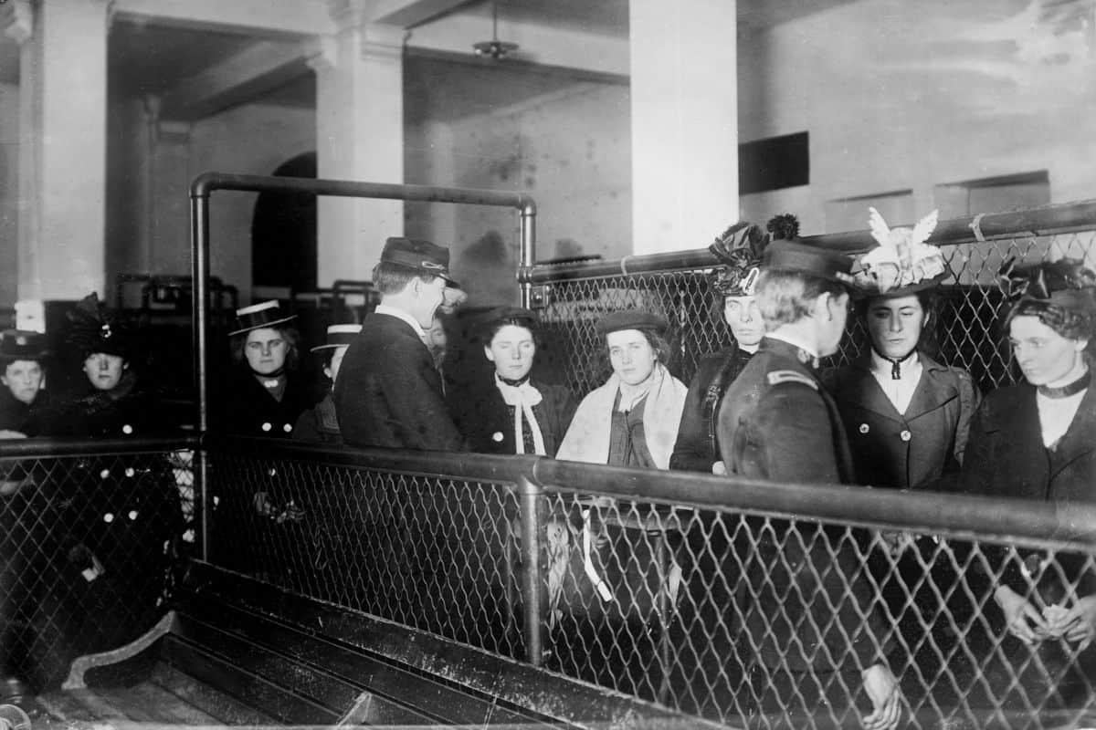 Female Immigrants Being Processed at Ellis Island