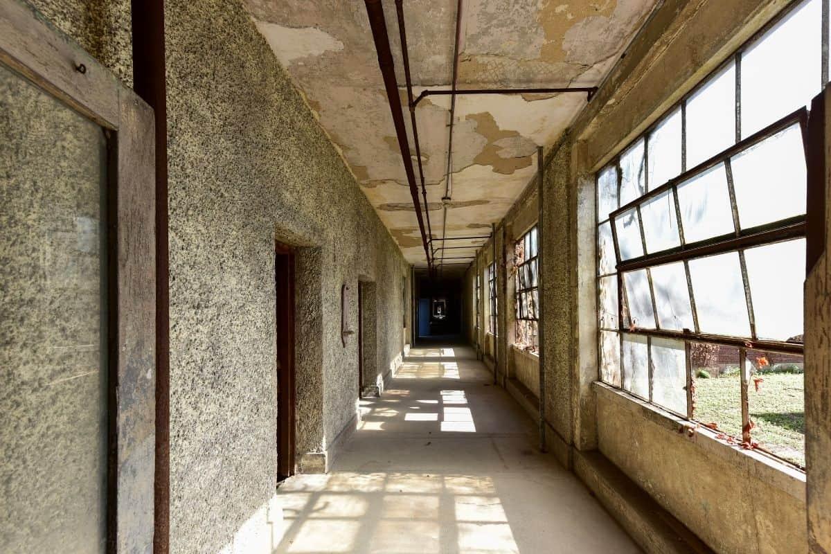 Hallway of Abandoned Ellis Island Hospital