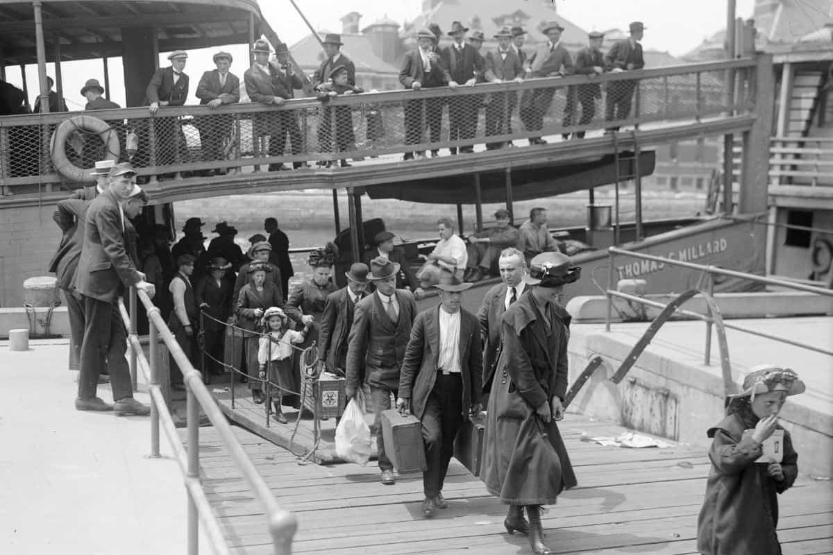 Immigrants Arriving at Ellis Island