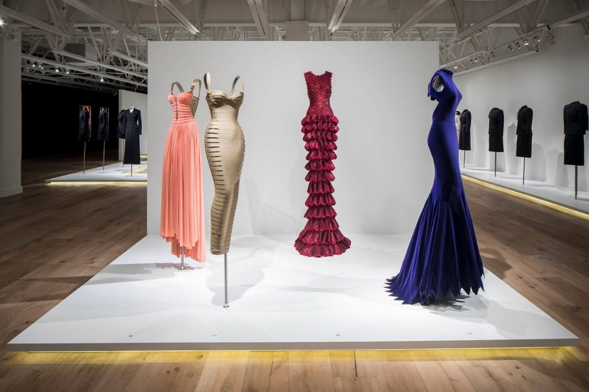 Glamorous costumes on display at the SCAD FASH Museum of Fashion and Film in Atlanta