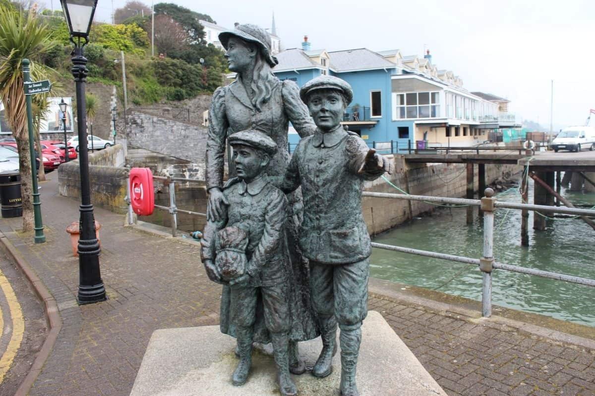 Statue of Annie Moore in Cobh Ireland