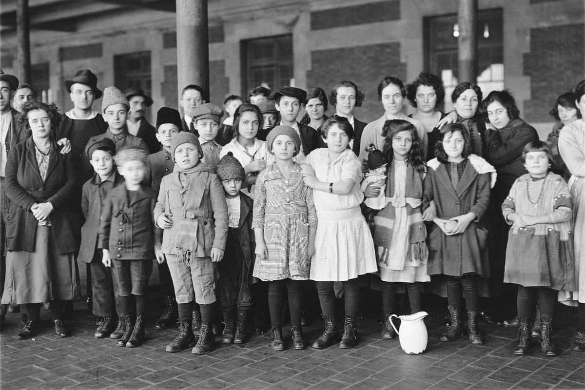 Young Immigrants at Ellis Island