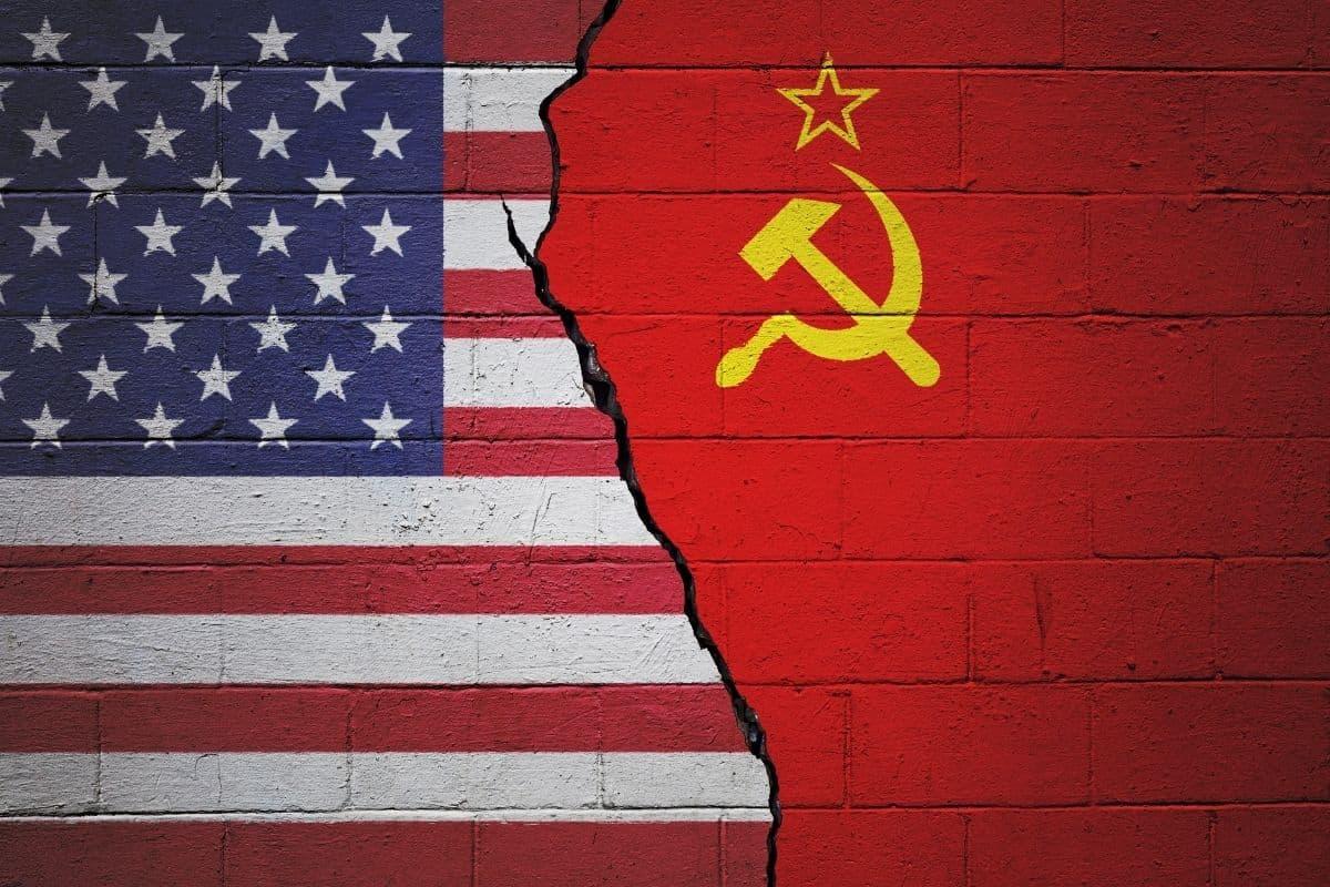 USA and USSR Flag