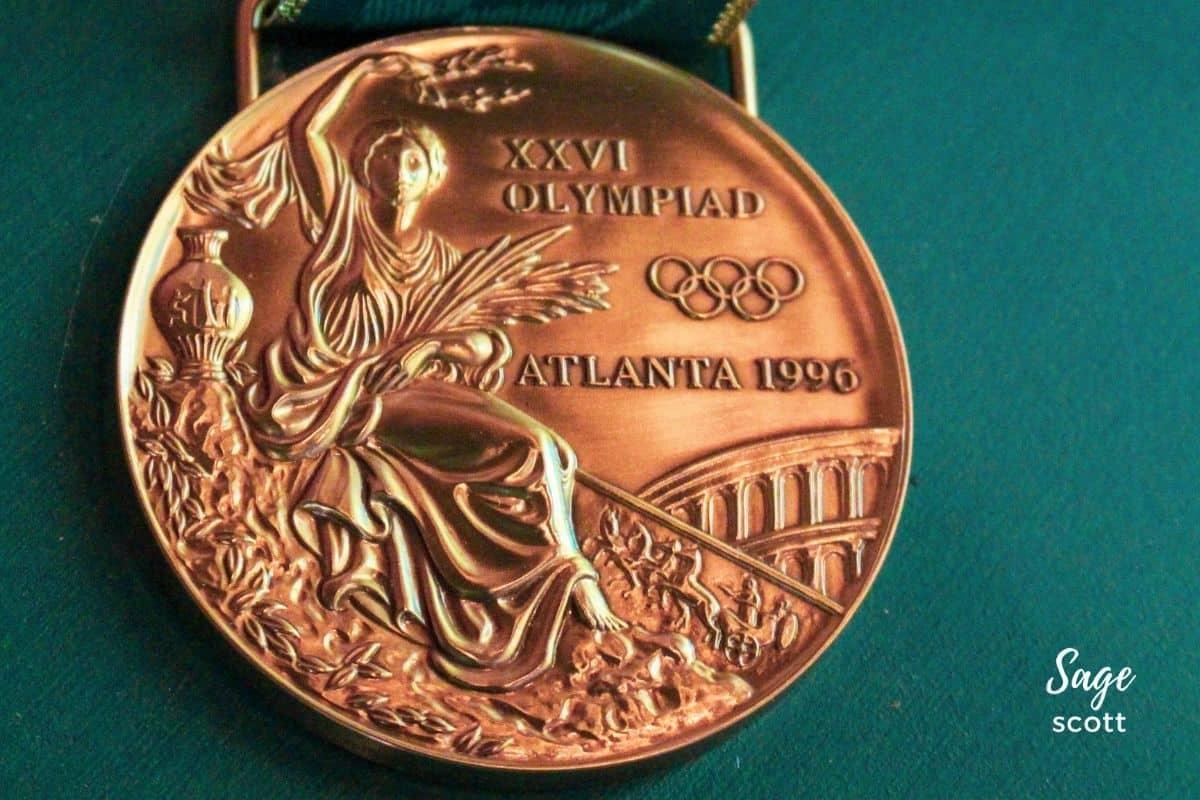 A gold medal from the Atlanta Olympics