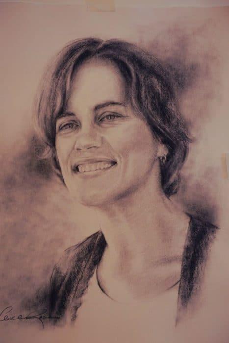 Sketch of Michelle Melland by Kansas City artist Bill Rose