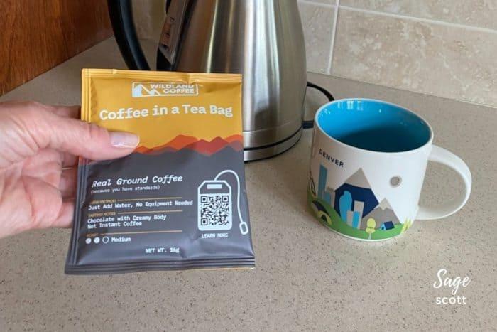 Wildland Coffee in a Tea Bag