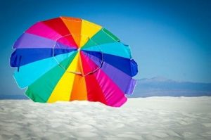 Umbrella at White Sands